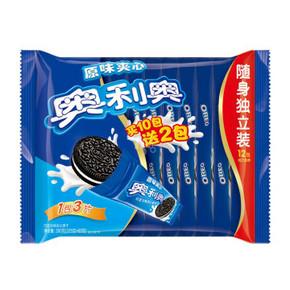 奥利奥 原味夹心 12包*3片 325g+65g 10.9元