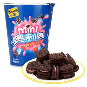 奥利奥 mini草莓口味小饼干 55g 折1.6元(3件8折)