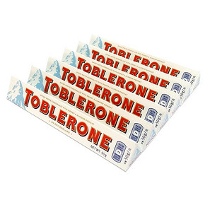 Toblerone 瑞士三角 白巧克力 50g*6只 19.9元包邮