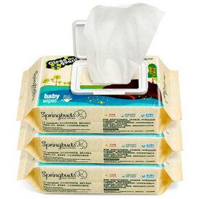 子初 婴儿手口专用湿巾 80抽*6包 19.9元(买2免1)
