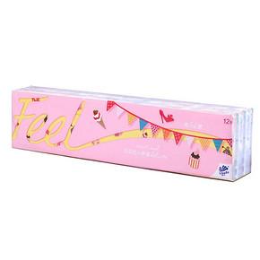 维达 FEEL系列 幸福小印花手帕纸 4层*7张*12包 折3.4元(6.9,5件5折)