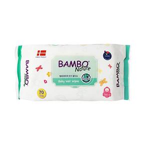 韩国进口 BAMBO 婴儿手口湿巾 70抽 9.9元包邮