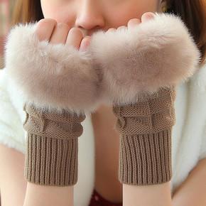 卡兰薇 加厚保暖可爱半指手套 券后6.9元包邮