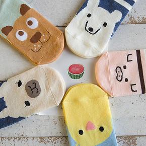 米足 女款短袜 5双装*2盒 19.9元包邮(买1送1)