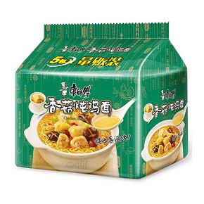 康师傅 经典系列 香菇炖鸡泡面 五连包 折10元(49-10)