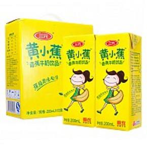 三元 黄小蕉 香蕉牛奶饮品 200ml*12瓶 19.90元