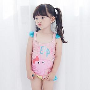 亦浪 女童小猪佩奇连体泳衣 29.8元包邮(49.8-20券)
