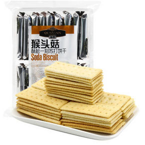 趣园 猴头菇苏打饼干 420g 折7.4元(14.8,2件5折)