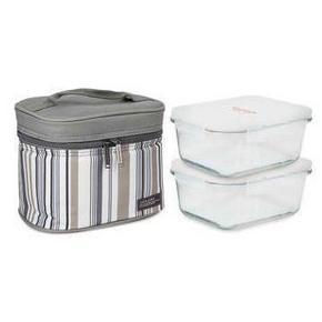 乐扣乐扣 玻璃保鲜盒两件套装 740ml*2个 89元