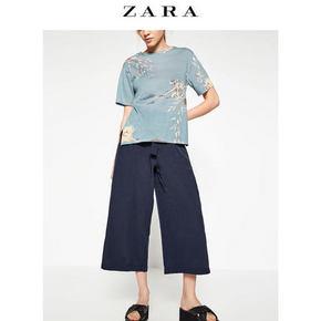 ZARA TRF女装宽管七分裤 99元包邮