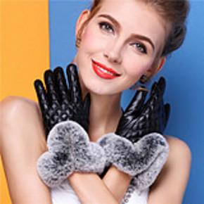 韩版加绒加厚保暖兔毛触摸屏皮手套  券后12.8元包邮