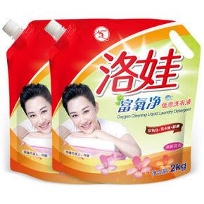 洛娃 富氧净低泡洗衣液套装 2kg*2袋 19.9元