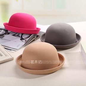 韩版毛呢圆顶小礼帽 5.5元包邮