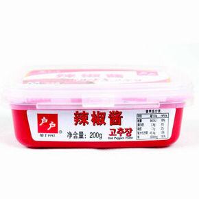 户户 韩国辣椒酱 200g*2件 10.8元(买1送1)