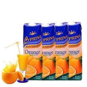 CYPRINA 塞浦丽娜 天然橙汁 1L*4盒 39.9元