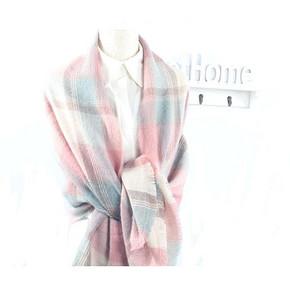羽媗 仿羊绒长方形大围巾 9.9元包邮