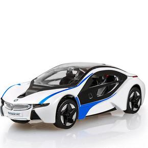 美致模型 i8 高仿真静态模型车汽车模型玩具 19.9元