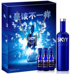 Skyy Vodka 深蓝 伏特加礼盒 69元(可499减100)