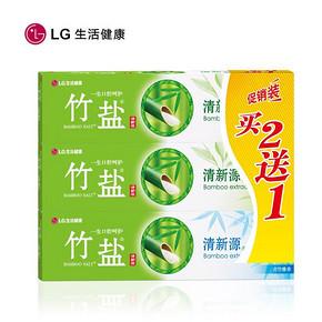 LG 竹盐 清新源牙膏 110g*3支 折7.4元(14.8,5件5折)