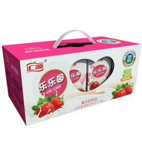 汇源 乐乐园果汁奶 草莓味 250ml*12盒 18.9元