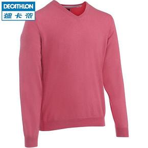 迪卡侬 男士V领纯色套头衫 49元(2件包邮)