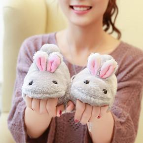 品卡龙 冬季韩版兔子保暖半指手套 券后13.8元包邮