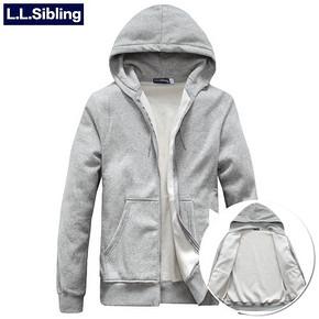 L.L.Sibling 加绒加厚纯色连帽毛绒开衫卫衣 券后48元包邮