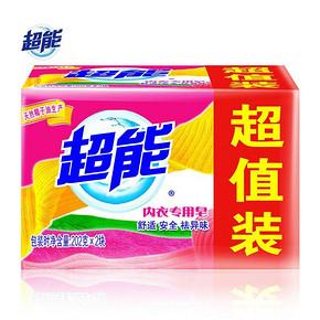 超能 内衣专用皂 202g*2块 折4.9元(9.9,买2付1)