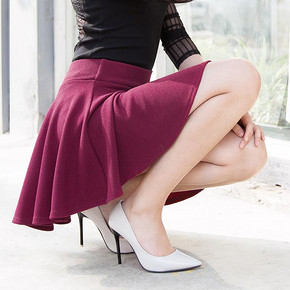 Showcai 女士高腰A字小短裙 9.9元包邮