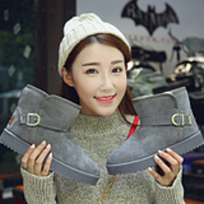 歌瑞缇 女士加绒加厚防滑短筒雪地靴 19.5元包邮