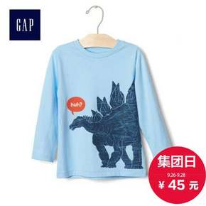 Gap 男童趣味印花长袖T恤 45元包邮