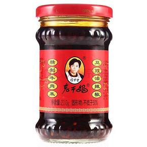 陶华碧 牛肉末豆豉油辣椒 210g 6.9元