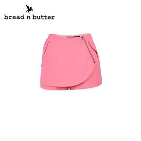 bread n butter 女装个性不规则拉链休闲裙裤 券后20.6元包邮