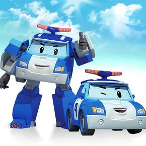 德馨玩具 儿童变形警车机器人POLI玩具 9.5元包邮