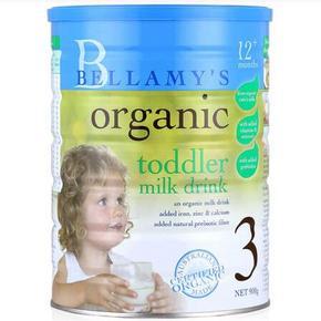 贝拉米 Bellamy's 婴幼儿有机奶粉 3段 900g*3件 420元包邮(417-41.7+44.7)