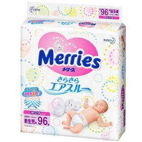 花王 Merries 妙而舒 新生儿纸尿裤 NB96片 77.9元(69+8.9)