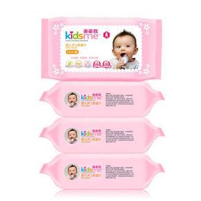 亲亲我 婴儿手口湿纸巾 25抽4连包 9.9元