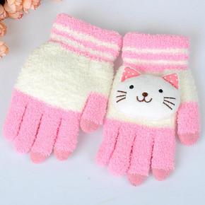 秋冬季韩版可爱加厚保暖触屏手套 券后5.8元包邮