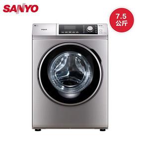 SANYO 三洋 WF710320S5S 全自动滚筒洗衣机  7.5公斤  1598元包邮