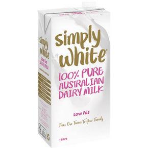 Simply white 低脂UHT牛奶 1L*12L 56.5元(49.9+6.6)
