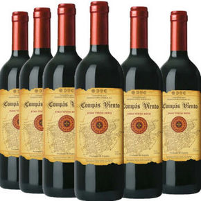 西班牙进口 孔帕维纳托干红葡萄酒 750ml*6瓶  88元
