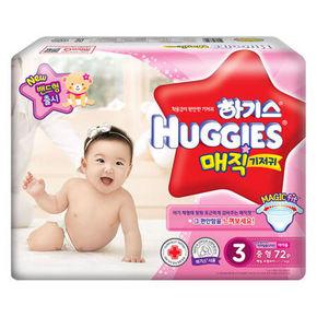 HUGGIES 好奇 魔术系列 金装升级纸尿裤 3段72片 折79.5元(2件9折)