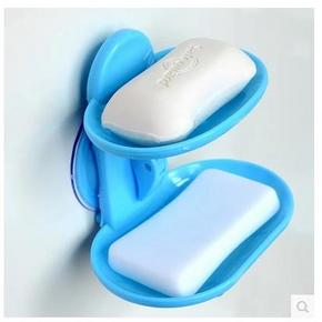 双燕 双层免打孔强力吸盘肥皂盒  2.8元包邮