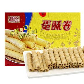 趣悦 蛋酥卷香酥花生味 蛋卷酥 500g 折10.1元(4件6折)