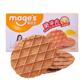 mage's  麦吉士 黑糖味脆华夫 105g 9.9元