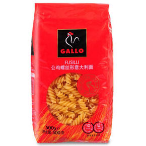 GALLO 公鸡 螺丝形意大利面 500g 9.9元