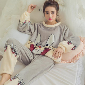 雅人 女士可爱卡通珊瑚绒睡衣套装 多款可选 29元包邮(49-20券)