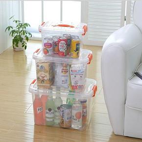 大中小号透明塑料箱收纳箱  4.8元包邮