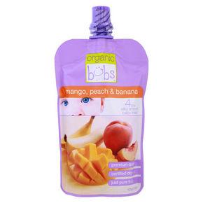 Bubs贝儿有机芒果、桃子、香蕉果泥 120g 9.9元