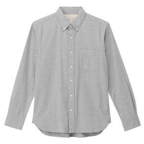 MUJI 无印良品 男式棉法兰绒纽扣领衬衫 178元